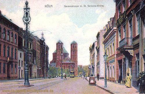 Köln. Gereonstraße mit St. Gereons-Kirche