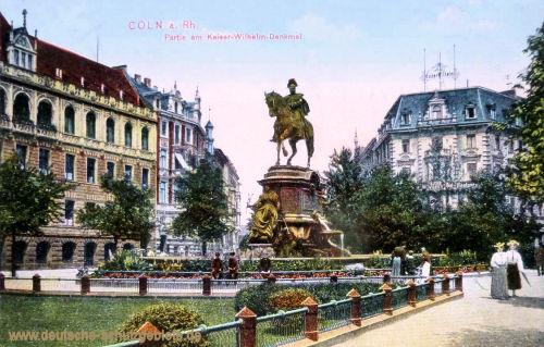 Köln. Partie am Kaiser Wilhelm-Denkmal