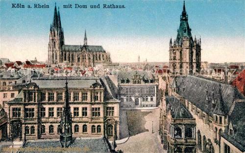 Köln mit Dom und Rathaus