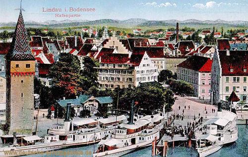 Lindau im Bodensee, Hafenpartie