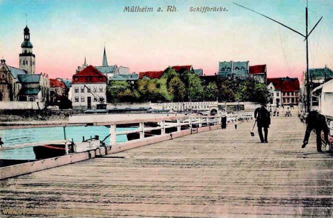Mülheim am Rhein, Schiffbrücke