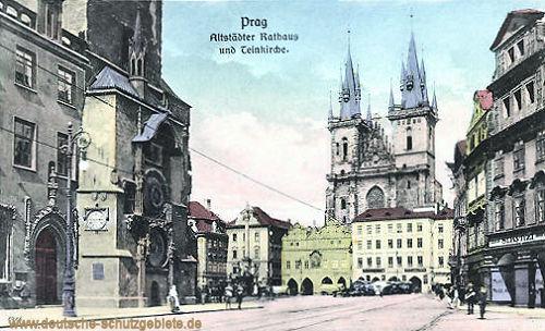 Prag, Altstädter Rathaus und Teinkirche