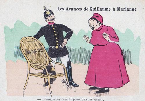 Marokkokrise: Les Avances de Guillaume a Marianne - Donnez-vous donc la peine vous asseoir.