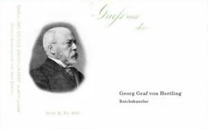 Reichskanzler Georg Graf von Hertling