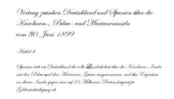 Vertrag vom 30. Juni 1899