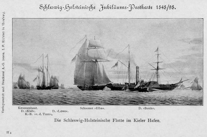Die Schleswig-Holsteinische Flotte im Kieler Hafen
