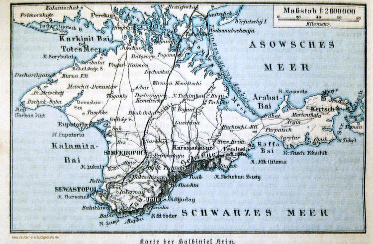 Karte der Halbinsel Krim (1914)