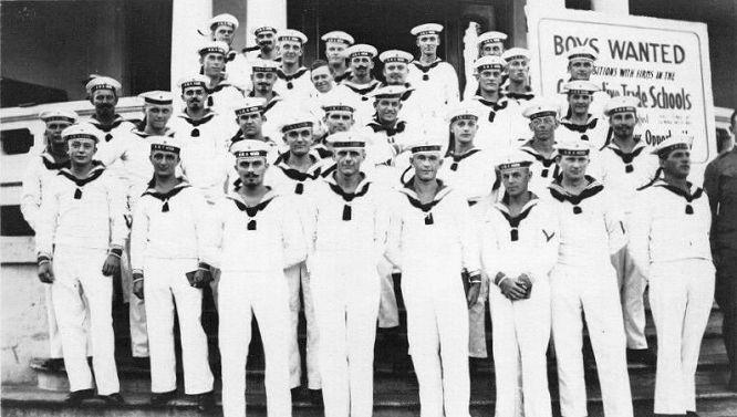 Internierte Besatzungsmitglieder von S.M.S. Geier auf Hawaii