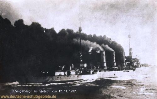 S.M.S. Königsberg im Gefecht am 17.11.1917