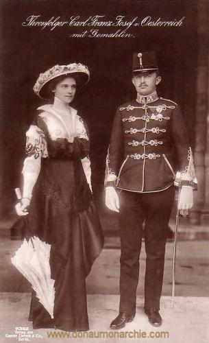 Thronfolger Carl Franz Josef von Österreich mit Gemahlin