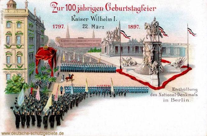 Enthüllung des National-Denkmals in Berlin 1897