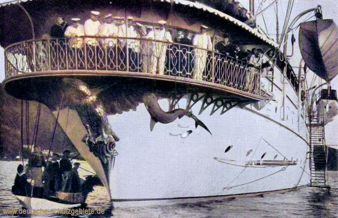 Haifischfang auf Hohenzollern 1902 in St. Thomas.