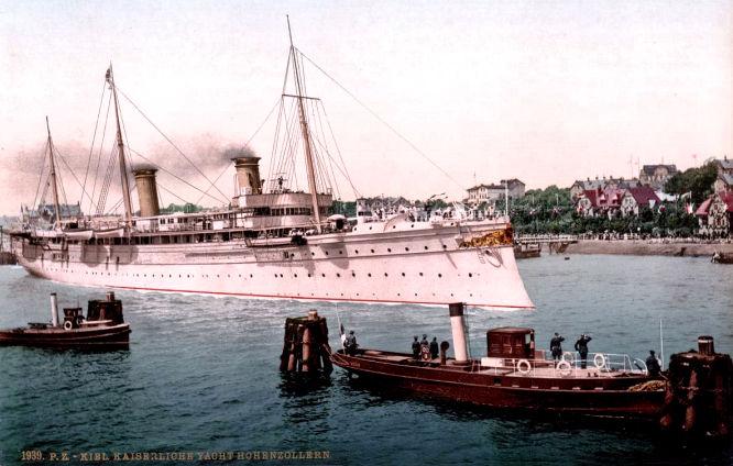 Kiel. Kaiserliche Yacht Hohenzollern.