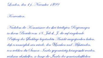 Vertrag über Samoa 1899