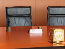 This where Angela Merkel sat for her Bundesministerium meeting mere hours before we arrived.