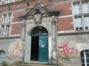 Entrance to high school