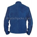 Captain America Winter Soldier Blue Leather Jacket.