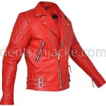 Marlon Brando Unisex Perfecto Red Motorcycle Leather Jacket2