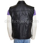 Spider-Man Noir Costume Black Leather Jacket Vest.