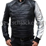 The Winter Soldier James Bucky Barnes Silver Arm Moto Vest