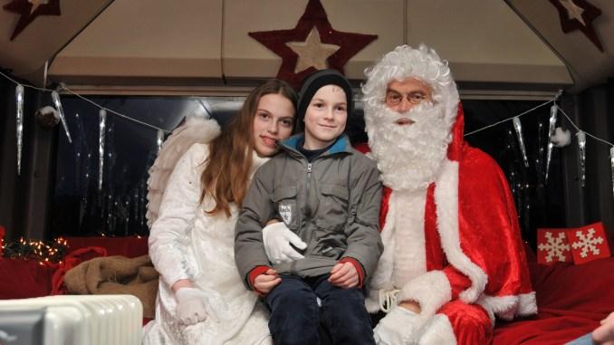 Weihnachtsmann und Weihnachtsengel