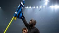 Ein Held des Derbys: Inter-Stürmer Romelu Lukaku feiert ein Tor gegen den Stadtrivalen Milan.