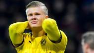 Genießt die Stimmung in Dortmund: Erling Haaland