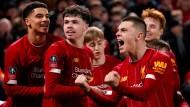 Jungenhaftes Strahlen: Der Liverpool-Nachwuchs sichert das Weiterkommen.