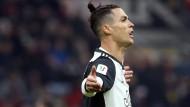 Torschütze in der Nachspielzeit: Cristiano Ronaldo von Juventus Turin im italienischen Pokal