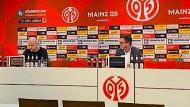Viel Leere: Pressekonferenz von Mainz 05.