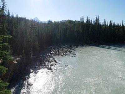 Plage des chuttes d'Athabasca