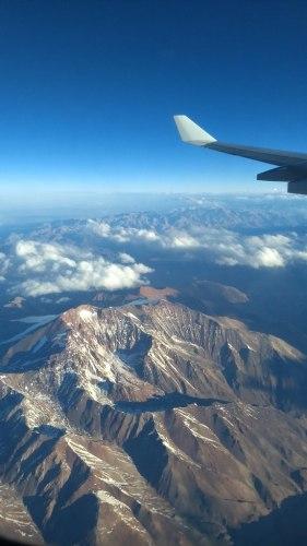 Au dessus de la Cordillère des Andes
