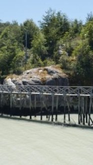 Caleta Tortel Village sur pilotis sur la Carretera Austral