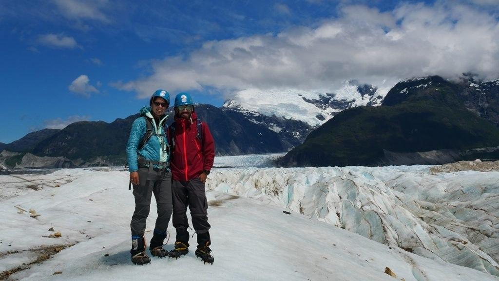 Deux Évadés au glacier Exploradores sur la Carretera Austral