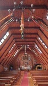 Église - intérieur sur Chiloe