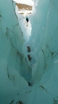 Particularités du glacier