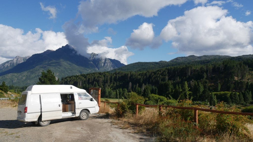 La furgoneta sous le soleil argentin
