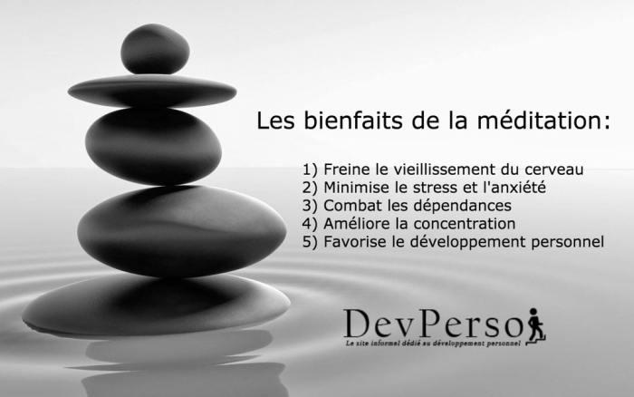 Les bienfaits de la méditation, méditation et développement personnel, par Dev-Perso