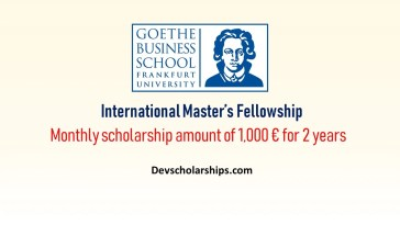 Germany Master Scholarships for Foreign Students at Goethe University