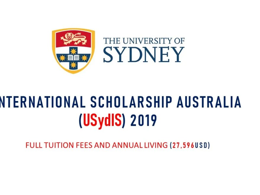 University of Sydney International Scholarships (USydIS) in Australia, 2019