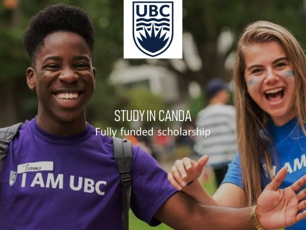 Fully Funded Doctoral Fellowship in Canada, University of British Columbia 2019