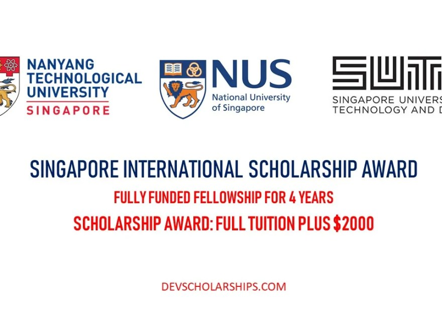 SINGA Fully Funded Awards for International Students in Singapore, 2020