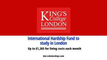 King's College London International Hardship Fund in UK, 2019