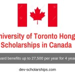 University of Toronto Hong Kong Scholarships in Canada 2020