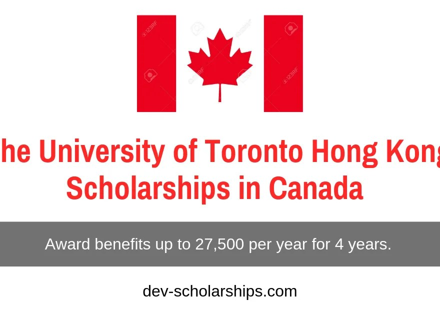 University of Toronto Hong Kong Scholarships in Canada 2020