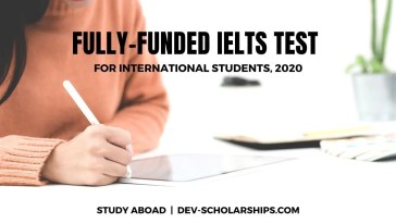 Fully-Funded IELTS Test for International Students, 2020