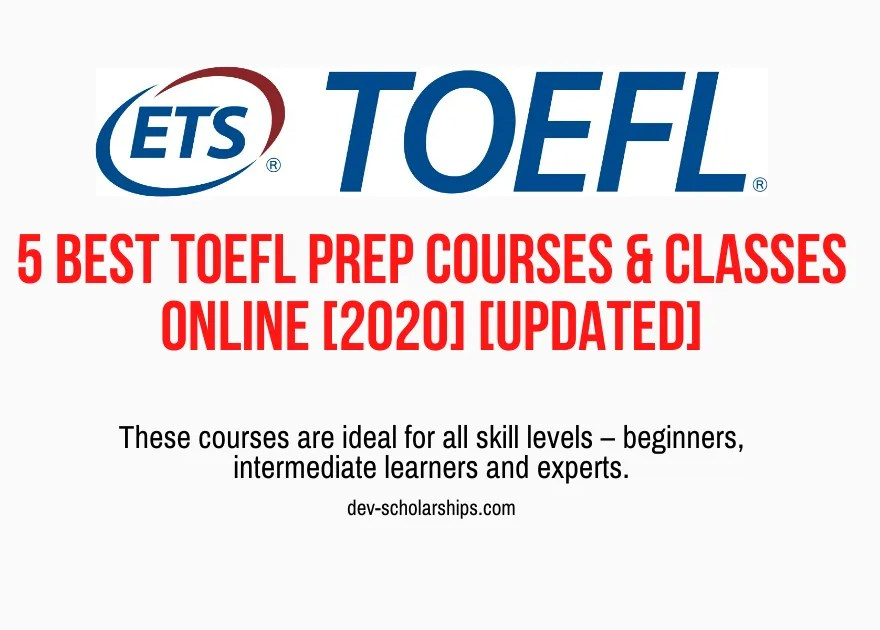 5 Best TOEFL Prep Courses and Classes Online [2020] [UPDATED]