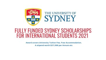 Fully Funded Sydney Scholarships for International Students 2021
