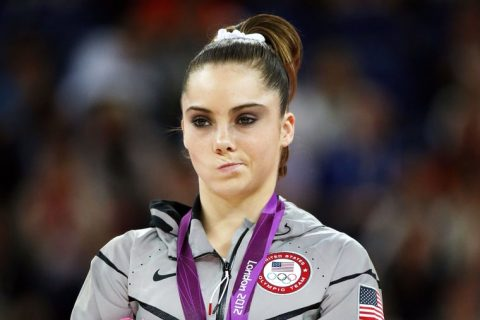 """McKayla Maroney's famous """"Not Impressed"""" face."""