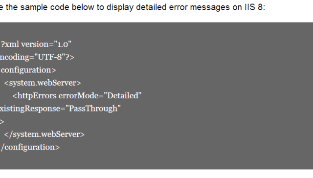 Enable Detailed Errors